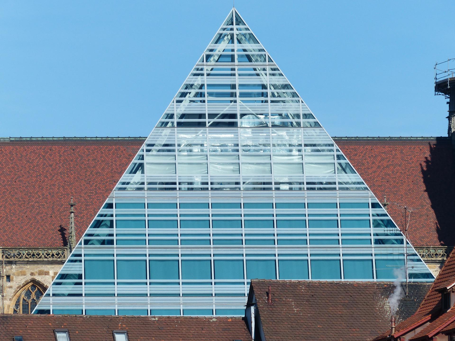 Glazen dak plaatsen