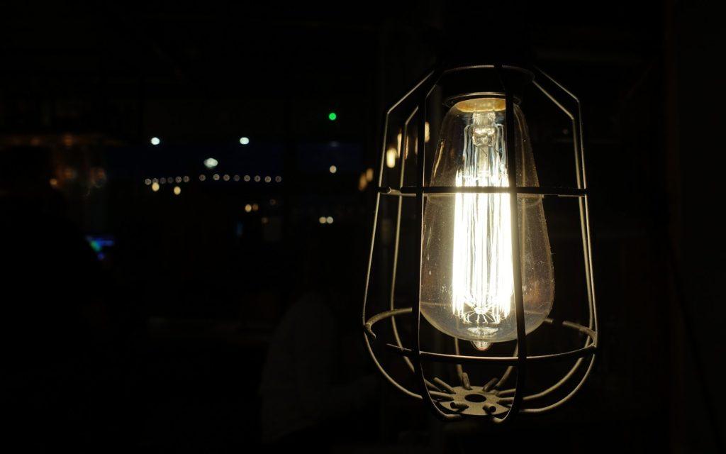 een nieuwe lamp in huis